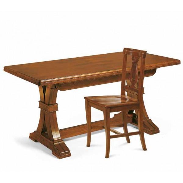 tavolo allungabile cm.360 legno arte povera legno noce taverna